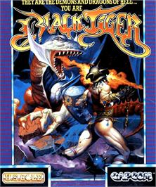 Box cover for Black Tiger on the Commodore Amiga.