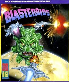Box cover for Blasteroids on the Commodore Amiga.