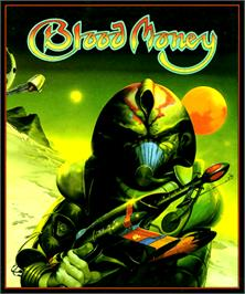Box cover for Blood Money on the Commodore Amiga.