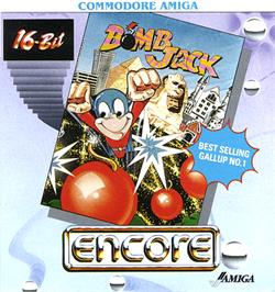 Box cover for Bomb Jack on the Commodore Amiga.