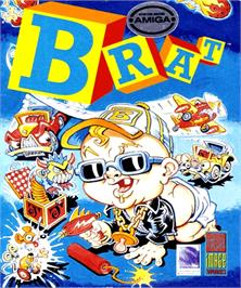 Box cover for Brat on the Commodore Amiga.