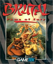 Box cover for Brutal: Paws of Fury on the Commodore Amiga.