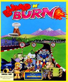 Box cover for Bump 'n' Burn on the Commodore Amiga.
