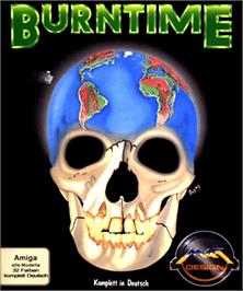 Box cover for Burntime on the Commodore Amiga.