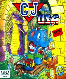 Box cover for CJ In the USA on the Commodore Amiga.