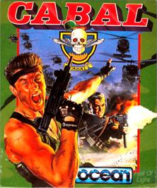 Box cover for Cabal on the Commodore Amiga.