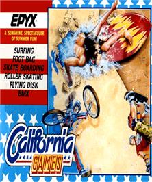 Box cover for California Games on the Commodore Amiga.