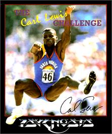 Box cover for Carl Lewis Challenge on the Commodore Amiga.
