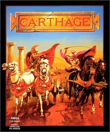 Box cover for Carthage on the Commodore Amiga.