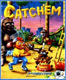 Box cover for Catch 'em on the Commodore Amiga.
