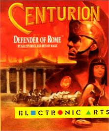 Box cover for Centurion: Defender of Rome on the Commodore Amiga.