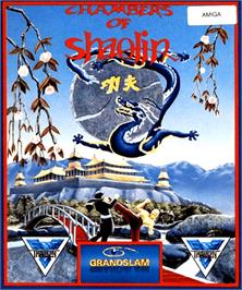 Box cover for Chambers of Shaolin on the Commodore Amiga.