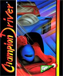Box cover for Champion Driver on the Commodore Amiga.