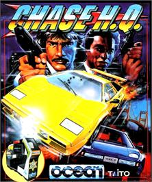 Box cover for Chase H.Q. on the Commodore Amiga.