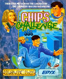 Box cover for Chip's Challenge on the Commodore Amiga.