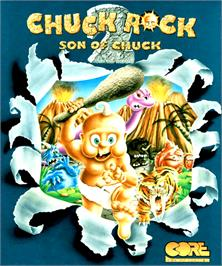 Box cover for Chuck Rock 2: Son of Chuck on the Commodore Amiga.