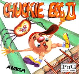 Box cover for Chuckie Egg 2 on the Commodore Amiga.