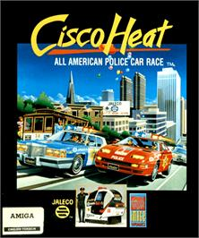 Box cover for Cisco Heat: All American Police Car Race on the Commodore Amiga.