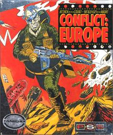 Box cover for Conflict: Europe on the Commodore Amiga.
