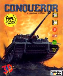 Box cover for Conqueror on the Commodore Amiga.