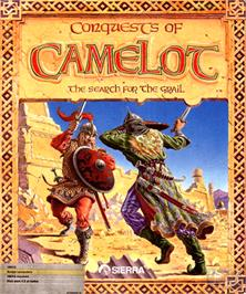 Box cover for Conquests of Camelot: The Search for the Grail on the Commodore Amiga.