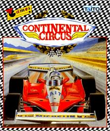 Box cover for Continental Circus on the Commodore Amiga.