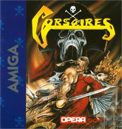 Box cover for Corsarios on the Commodore Amiga.