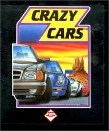 Box cover for Crazy Cars on the Commodore Amiga.