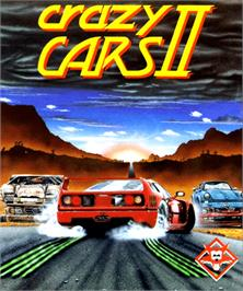 Box cover for Crazy Cars 2 on the Commodore Amiga.