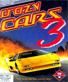 Box cover for Crazy Cars 3 on the Commodore Amiga.