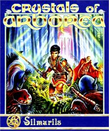 Box cover for Crystals of Arborea on the Commodore Amiga.