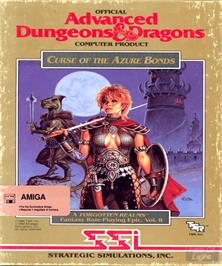 Box cover for Curse of the Azure Bonds on the Commodore Amiga.