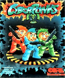 Box cover for CyberPunks on the Commodore Amiga.