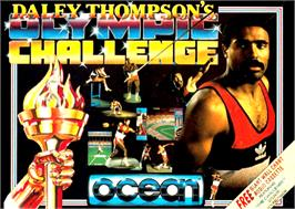 Box cover for Daley Thompson's Olympic Challenge on the Commodore Amiga.
