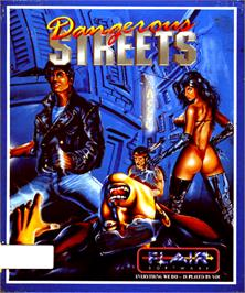 Box cover for Dangerous Streets on the Commodore Amiga.