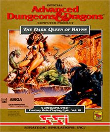 Box cover for Dark Queen of Krynn on the Commodore Amiga.