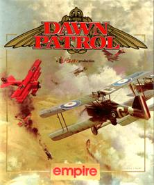 Box cover for Dawn Patrol on the Commodore Amiga.