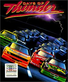 Box cover for Days of Thunder on the Commodore Amiga.