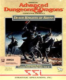 Box cover for Death Knights of Krynn on the Commodore Amiga.