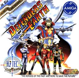 Box cover for Defenders of the Earth on the Commodore Amiga.