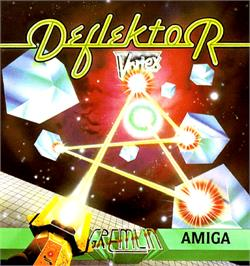 Box cover for Deflektor on the Commodore Amiga.