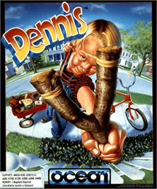 Box cover for Dennis on the Commodore Amiga.