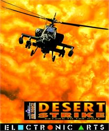 Box cover for Desert Strike: Return to the Gulf on the Commodore Amiga.
