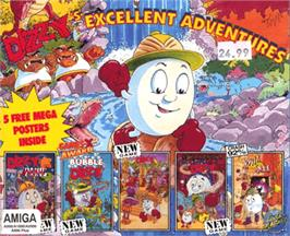 Box cover for Dizzy's Excellent Adventures on the Commodore Amiga.