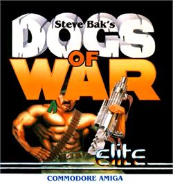 Box cover for Dogs of War on the Commodore Amiga.