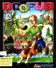 Box cover for Doofus on the Commodore Amiga.