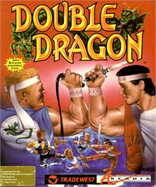Box cover for Double Dragon on the Commodore Amiga.