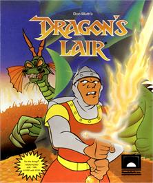 Box cover for Dragon's Lair on the Commodore Amiga.