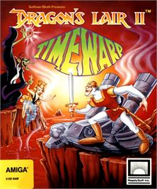 Box cover for Dragon's Lair 2 on the Commodore Amiga.