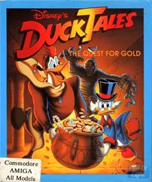 Box cover for Duck Tales: The Quest for Gold on the Commodore Amiga.